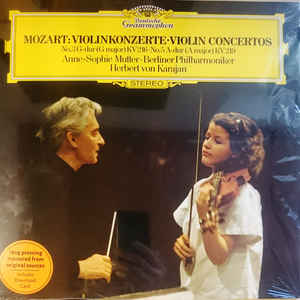 ANNE-SOPHIE MUTTER, BERLINER PHILHARMONIKER, HERBERT VON KARAJAN – MOZART: VIOLIN CONCERTOS 3 & 5 (LP)