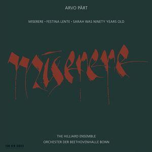 ARVO PÄRT: MISERERE –  (CD)