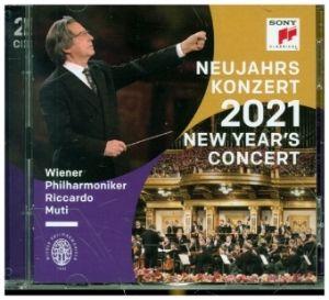 MUTI, RICCARDO, & WIENER PHILHARMONIKER – NEUJAHRSKONZERT 2021 / NEW YEAR'S CONCER (2xCD)