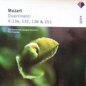 MOZART DIVERTIMENTI /KOOPMAN CD PINGV –  (CD)