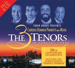 THREE TENORS – THREE TENORS ON CONCERT 1994 (2xCD)