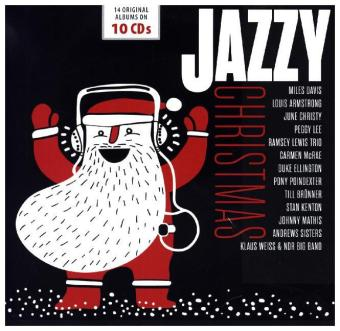 VARIOUS ARTISTS – JAZZY CHRISTMAS (10xCD)