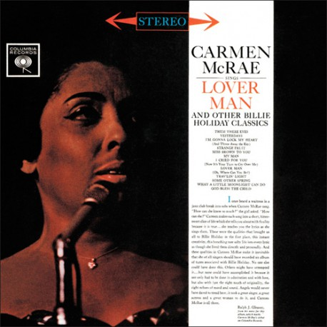MCRAE, CARMEN – SINGS LOVER MAN & OTHER BILLIE HOLIDAY CLASSICS (LP)