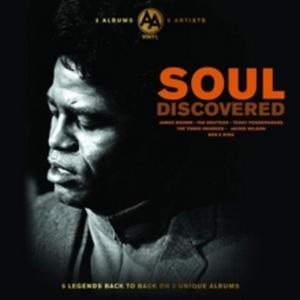 VARIOUS ARTISTS – SOUL DISCOVERED 6 LEGENDS BROWN WILSON RUFFIN 3-LP –  (LP)