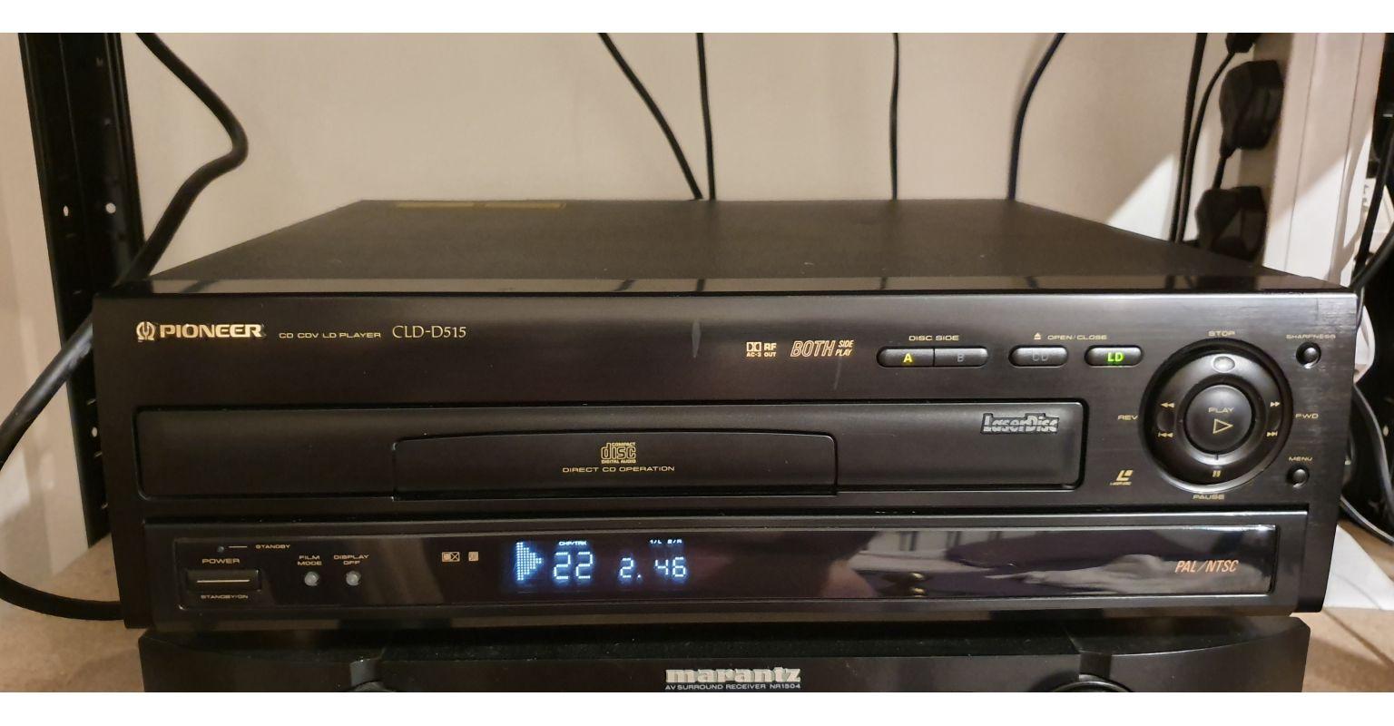 Плейър за лазерни дискове с колекция от 116 диска / Laser Disc Player with a lot of 116 Laser Discs