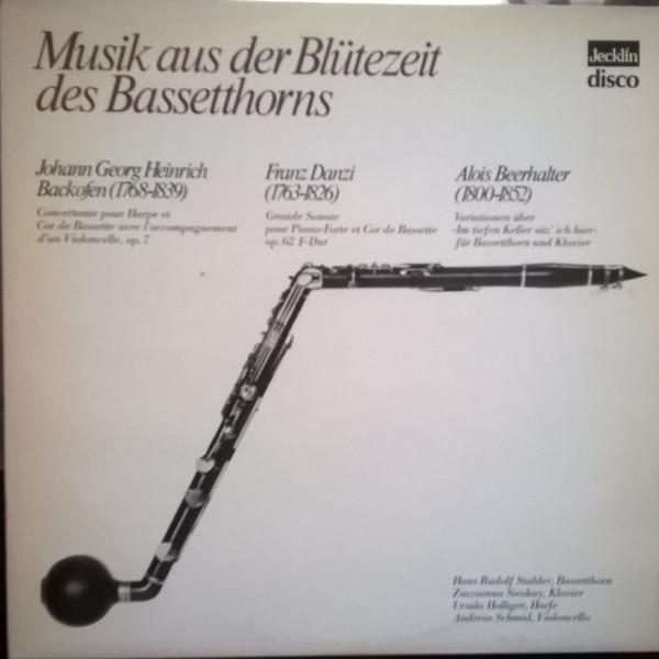 Johann Georg Heinrich Backofen, Franz Danzi, Alois Beerhalter – Musik Aus Der Blütezeit Des Bassetthorns (LP) (Near Mint (NM or M-))