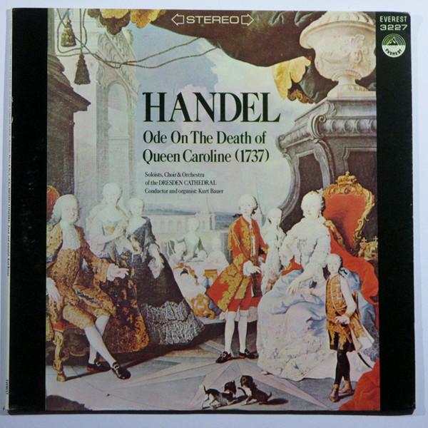 Georg Friedrich Händel –  Ode On The Death Of Queen Caroline (1737) (LP, Album) (Near Mint (NM or M-))