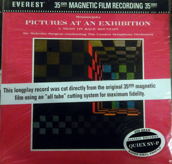 Modest Mussorgsky / Sir Malcolm Sargent Conducting The London Symphony Orchestra – Pictures At An Exhibition / A Night On Bald Mountain (Vinyl)