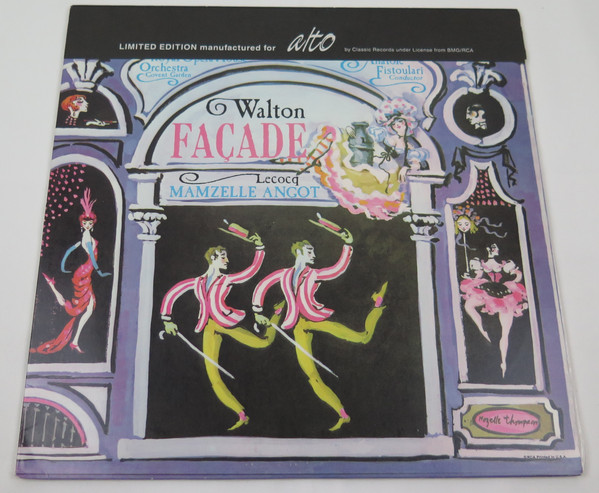 Charles Lecocq, Orchestra Of The Royal Opera House, Covent Garden – Façade / Mamzelle Angot (LP, Ltd, Num, RE, 180) (Near Mint (NM or M-))
