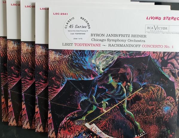 Franz Liszt, Sergei Vasilyevich Rachmaninoff, Byron Janis, The Chicago Symphony Orchestra, Fritz Reiner – Todtentanz / Concerto No. 1 In F-Sharp Minor, Op. 1  (Vinyl)
