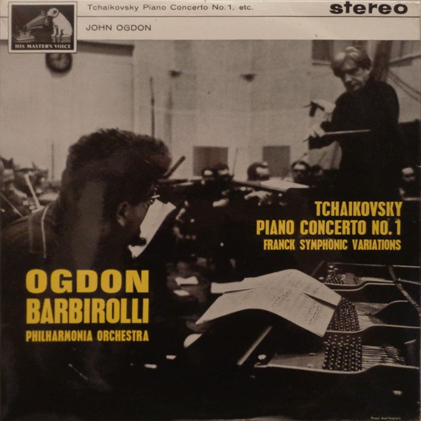 Pyotr Ilyich Tchaikovsky / César Franck – John Ogdon With The Philharmonia Orchestra Conducted By Sir John Barbirolli – Piano Concerto No. 1 / Symphonic Variations (LP) (Very Good (VG))