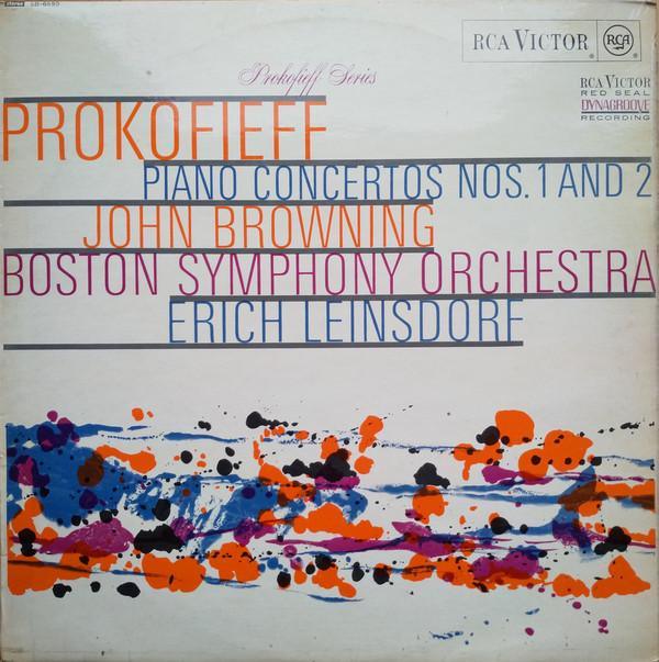 Sergei Prokofiev — John Browning (2) / Boston Symphony Orchestra / Erich Leinsdorf – Prokofieff: Piano Concertos Nos. 1 And 2 (LP, Album) (Very Good Plus (VG+))