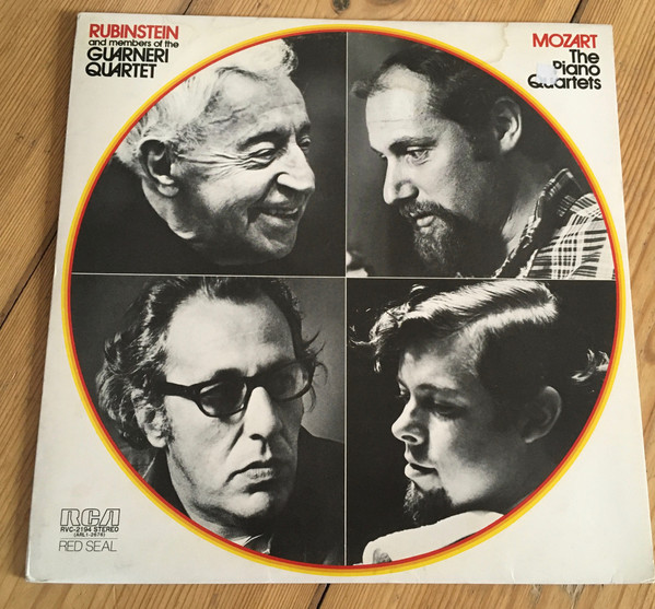 Arthur Rubinstein And Guarneri Quartet – Wolfgang Amadeus Mozart – The Piano Quartets (LP) (Very Good Plus (VG+))