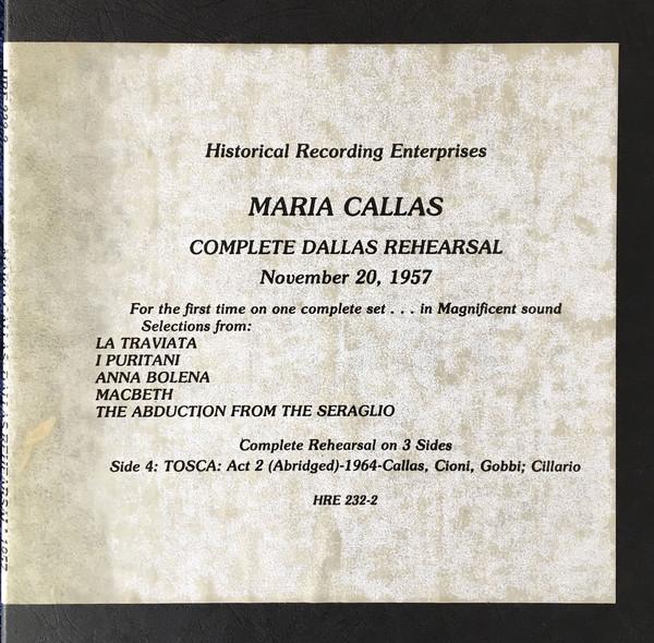 Maria Callas – Complete Dallas Rehearsal – 1957 (3xLP, Album, Mono + Box) (Very Good Plus (VG+))