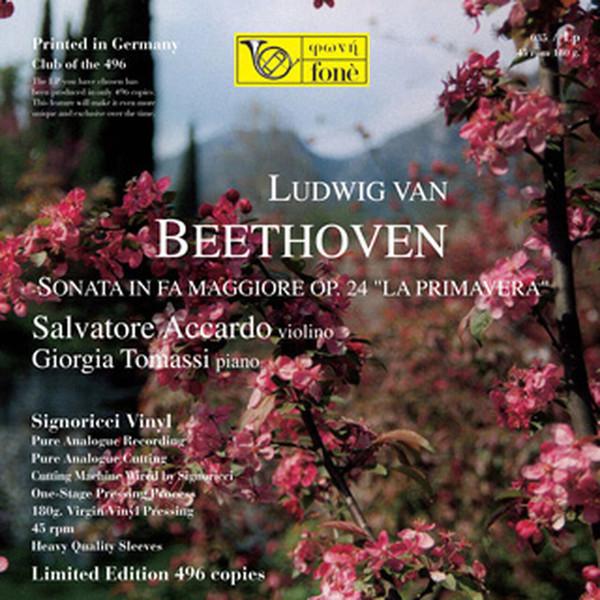 """Ludwig van Beethoven, Salvatore Accardo, Giorgia Tomassi – Sonata In Fa Maggiore Op. 24 """"La Primavera"""" (12″) (Mint (M))"""