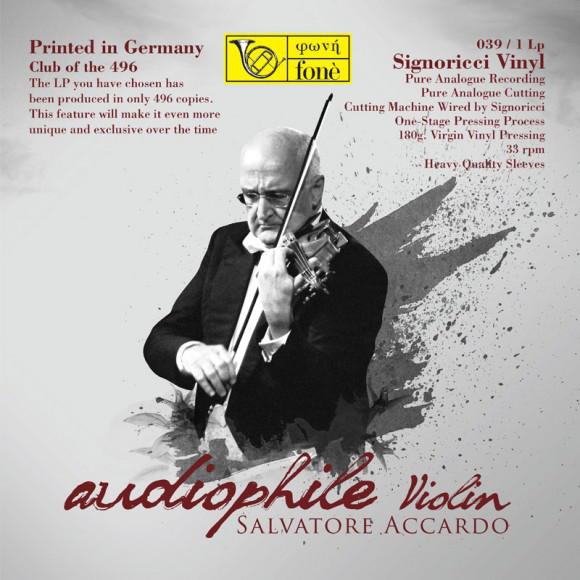 Salvatore Accardo, Ludwig van Beethoven, Pablo de Sarasate, George Gershwin, Fritz Kreisler – Audiophile Violin (LP) (Mint (M))