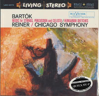 Béla Bartók / Fritz Reiner / The Chicago Symphony Orchestra – Music For Strings, Percussion And Celesta / Hungarian Sketches (LP, Album, RE, RM)