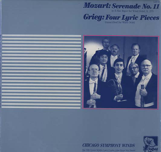 Wolfgang Amadeus Mozart / Edvard Grieg, Chicago Symphony Winds – Serenade No. 11 / Four Lyric Pieces (LP, Ltd) (Near Mint (NM or M-))