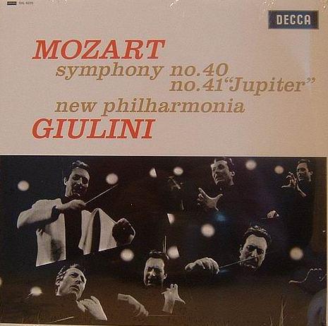 "Wolfgang Amadeus Mozart / New Philharmonia Orchestra, Carlo Maria Giulini – Symphony No. 40 / No. 41 ""Jupiter"" (LP, Album, RE, RM, 180) (Mint (M))"