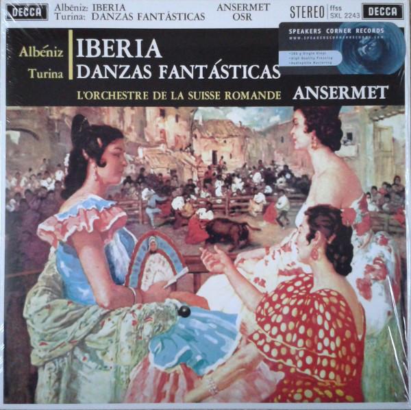 Isaac Albéniz, Joaquín Turina / L'Orchestre De La Suisse Romande, Ernest Ansermet – Iberia / Danzas Fantásticas (LP, RM, 180) (Mint (M))