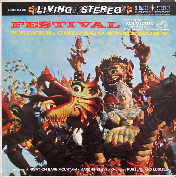 Fritz Reiner / The Chicago Symphony Orchestra – Festival (LP, Album) (Very Good (VG))