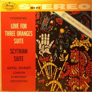 Sergei Prokofiev, The London Symphony Orchestra, Antal Dorati – The Love For Three Oranges Suite / Scythian Suite (LP) (Very Good (VG))