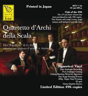 """Giuseppe Verdi, Quartetto D'Archi Della Scala – Dal """"Rigoletto"""" Di Verdi  (Vinyl)"""