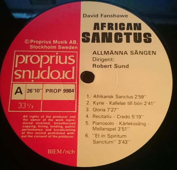 David Fanshawe – African Sanctus (LP) (Near Mint (NM or M-))