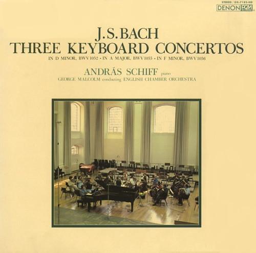 Johann Sebastian Bach – András Schiff, George Malcolm Conducting English Chamber Orchestra – Three Keyboard Concertos (LP, Album) (Near Mint (NM or M-))