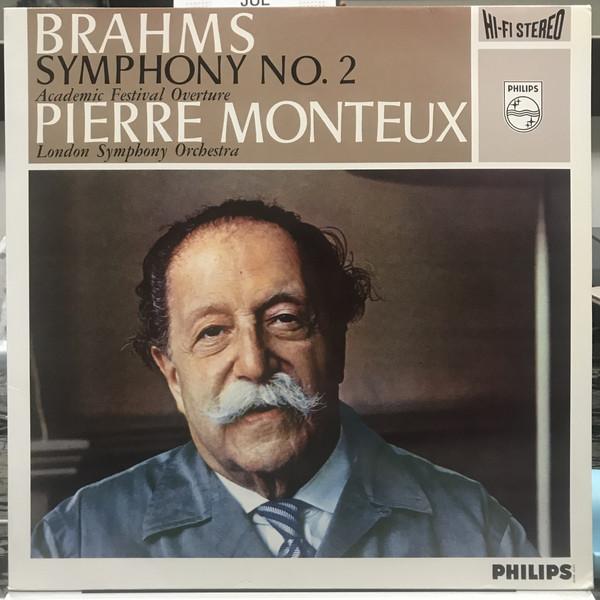 Johannes Brahms, Pierre Monteux, The London Symphony Orchestra – Symphonie No. 2 / Academic Festival Overture (LP, Album, RE) (Mint (M))