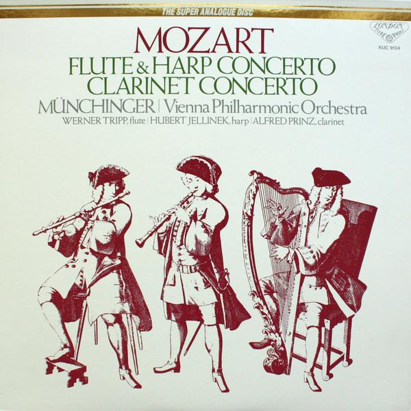 Wolfgang Amadeus Mozart – Karl Münchinger, Wiener Philharmoniker ∙ Werner Tripp ∙ Hubert Jellinek, Alfred Prinz – Flute & Harp Concerto / Clarinet Concerto (LP, RE) (Near Mint (NM or M-))
