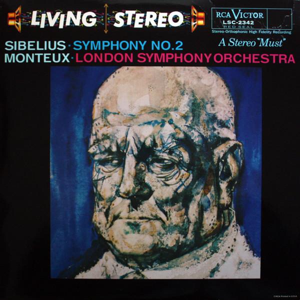 Jean Sibelius · Pierre Monteux · The London Symphony Orchestra – Symphony No. 2 (LP, Album, RE)
