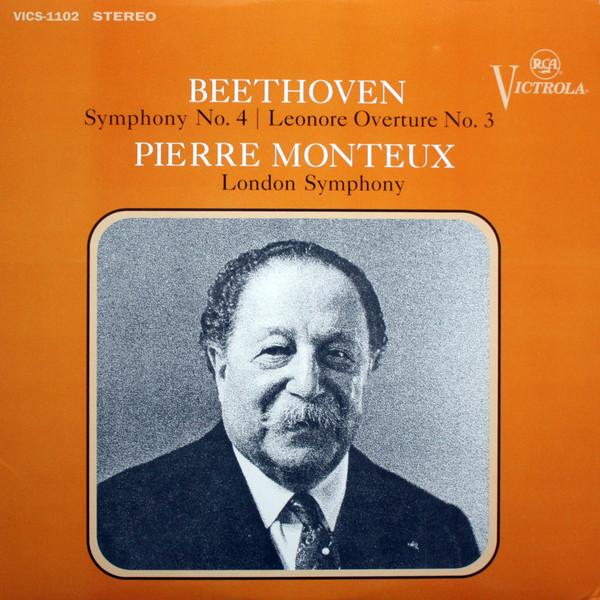 Ludwig van Beethoven – Pierre Monteux, The London Symphony Orchestra – Symphony No. 4 / Leonore Overture No. 3 (LP, Album, RE, 180) (Mint (M))