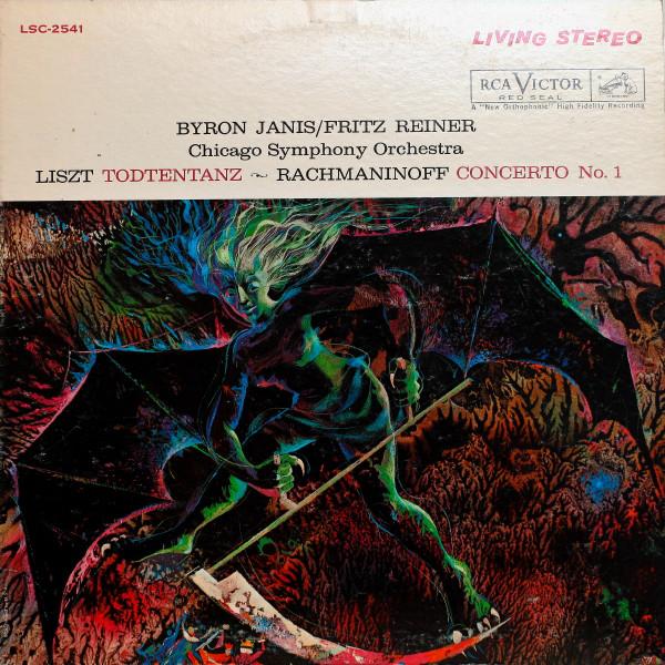 Franz Liszt / Sergei Vasilyevich Rachmaninoff, Byron Janis, The Chicago Symphony Orchestra, Fritz Reiner – Todtentanz / Concerto No. 1 In F-Sharp Minor, Op. 1 (LP) (Very Good (VG))