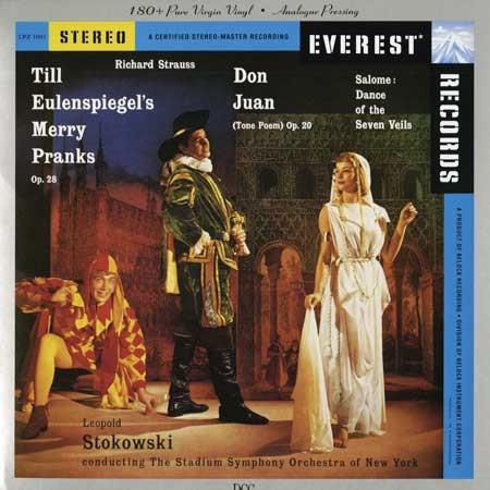 Leopold Stokowski Conducting The Stadium Symphony Orchestra Of New York – Strauss: Till Eulenspiegel's Merry Pranks, Op. 28; Don Juan (Tone Poem), Op. 20; Salomé: Dance Of The Seven Veils (LP, Album) (Near Mint (NM or M-))