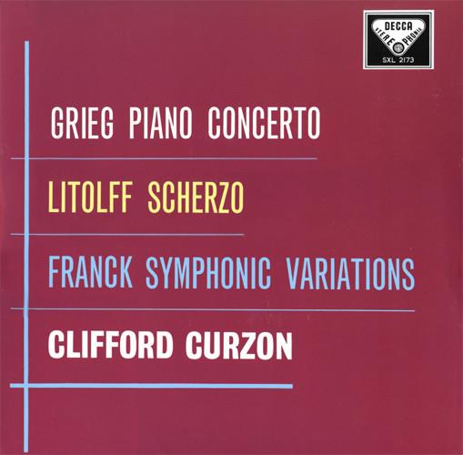 Edvard Grieg, Henry Litolff, César Franck –  Piano Concerto / Scherzo / Symphonic Variations  (LP, RE, 180) (Very Good Plus (VG+))